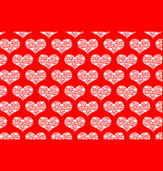 white heart pattern vector image