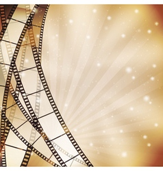background with filmstrip vector image vector image