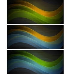 Bright wavy banners vector image