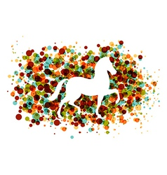 Chinese new year of the Horse bubbles EPS10 file vector image vector image