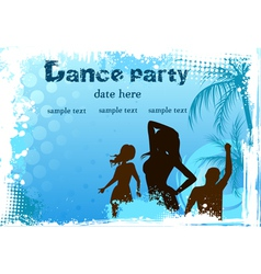 dance party blue background vector image