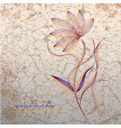 Flower on grange background vector image vector image