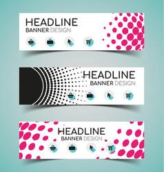 horizontal banner set3 vector image