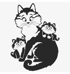 cat family vector image