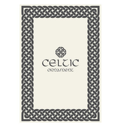 celtic knot braided frame border ornament a4 size vector image