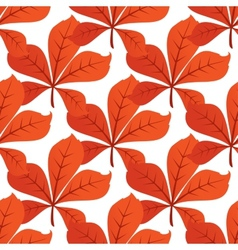 Colorful autumn leaf background seamless pattern vector image vector image