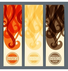 Hairstyle vertical banners vector image