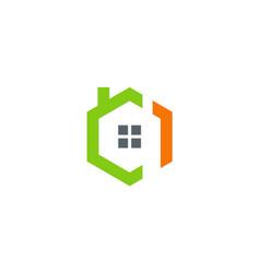 House architecture exterior icon logo vector