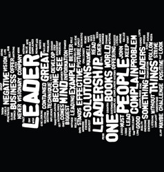 Lead by example text background word cloud concept vector