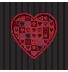 valentine heart decoration vector image vector image