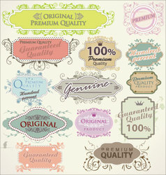 floral frames premium quality vector image