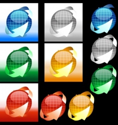 glossy sphere vector image