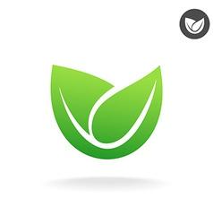 Green leaf icon Eco symbol vector image