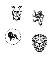 heraldic lions vector image vector image