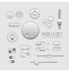 Light Web UI Elements Design Gray vector image vector image