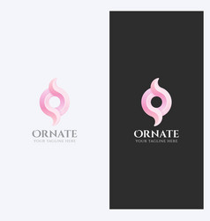 ornament swirl logo template vector image