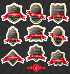 Premium quality label set 2 vector image