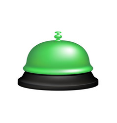 service bell in black and green design vector image
