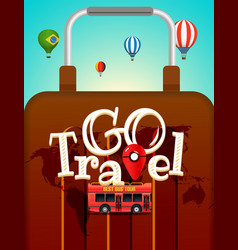 Vacation travelling concept travel with different vector