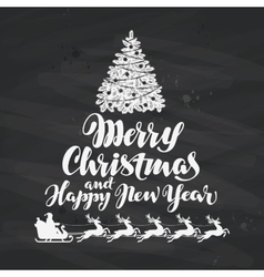 Christmas Holiday greetings written on black vector image vector image