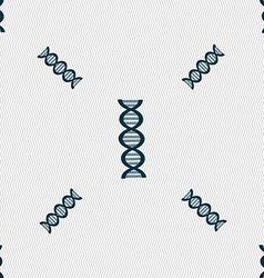 DNA sign Seamless pattern with geometric texture vector image