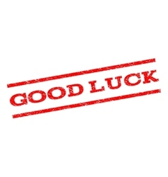 Good Luck Watermark Stamp vector image
