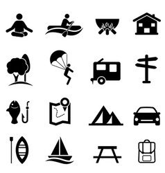 recreation activities and leisure icons vector image