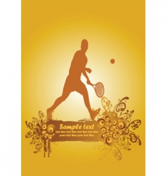 tennis poster2 vector image vector image