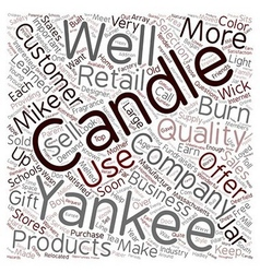 Yankee Candle Company 1 text background wordcloud vector image
