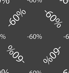 60 percent discount sign icon sale symbol special vector