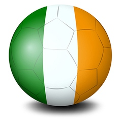 A soccer ball with the flag of Ireland vector image