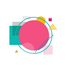 abstract banner with shapes on vector image