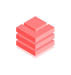 Abstract cubic icon isometric vector