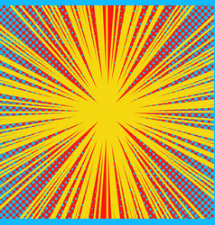 Abstract explosive bright yellow background vector