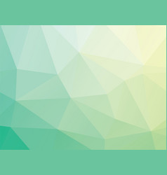 abstract triangular green background vector image