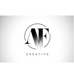 Af brush stroke letter logo design black paint vector
