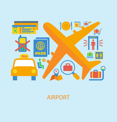Airport icon flat vector image