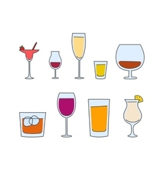 Alcohol tableware vector