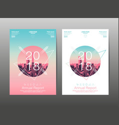 Annual report 2018 future business template vector