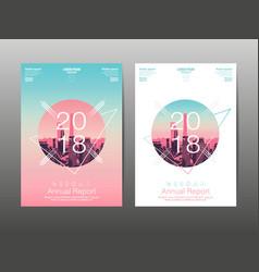 Annual report 2018 future business template vector