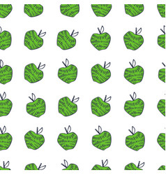 Apple fun doodle seamless pattern easy-08 vector