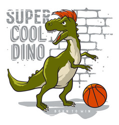 athletic dino 008 vector image