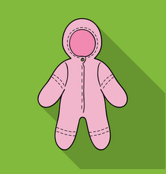 baby bodysuit icon in flate style isolated on vector image
