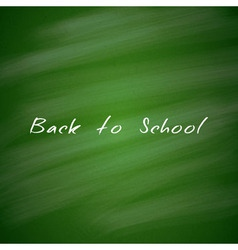 Back to School Green Chalkboard Background vector