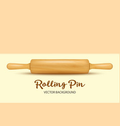 background with realistic 3d wooden rolling vector image