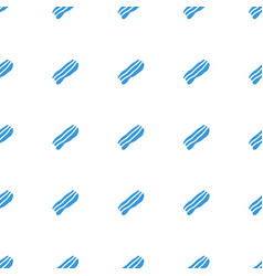 Bacon icon pattern seamless white background vector