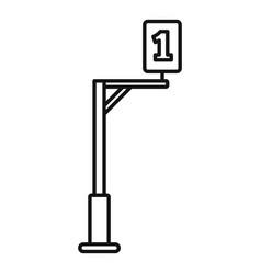 Biathlon one post icon outline style vector