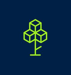 blockchain tree crypto bitcoin ethereum vector image