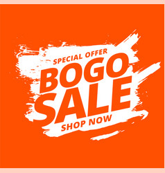 Bogo buy one get one sale background vector