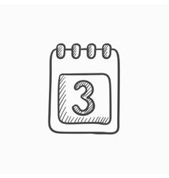Calendar sketch icon vector image